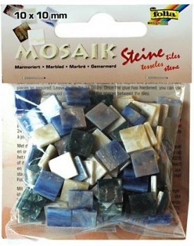 Mosaik 10x10mm / blue marble