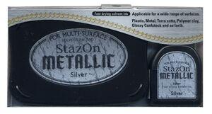 StazOn - atramentová poduška / Silver