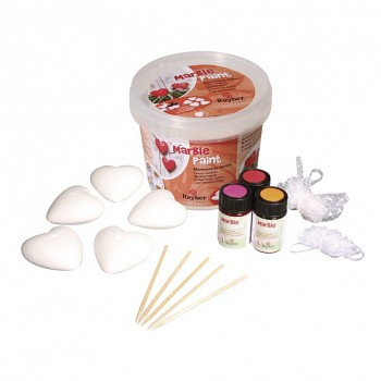 Marble Paint Kit - Hearts / mramorovacia sada