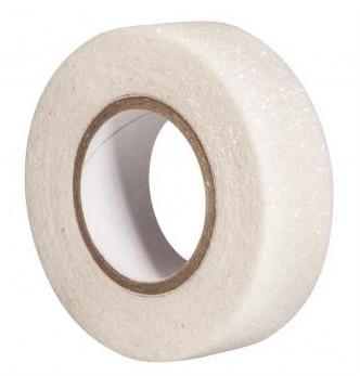 Glitrová páska / 15mm x 5m / biela