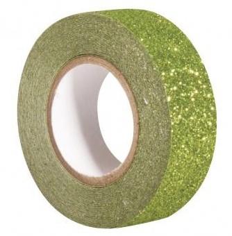 Glitrová páska / 15mm x 5m / evergreen