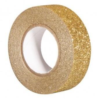Glitrová páska / 15mm x 5m / zlatá