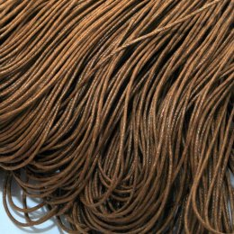 Waxed cord /1 mm/, sienna brown / 2m