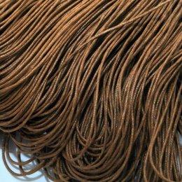 Voskovaná šnúrka /1 mm/, sienna hnedá / 2m