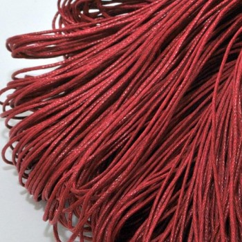 waxed cord /1mm / dark red / 2m