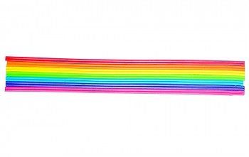 Wax decoration stripe rainbow / 2mm / 23cm / 14pcs