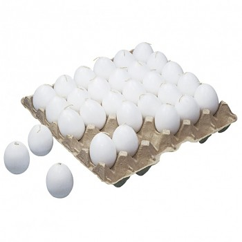 Egg candle, 60/45 mm white / 1pc