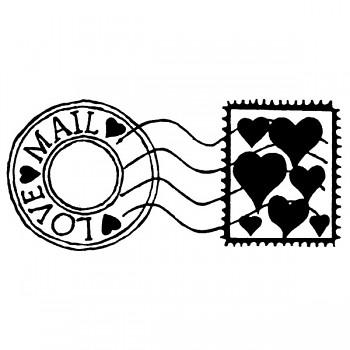 Transparentné razítko 5x7cm / Love mail