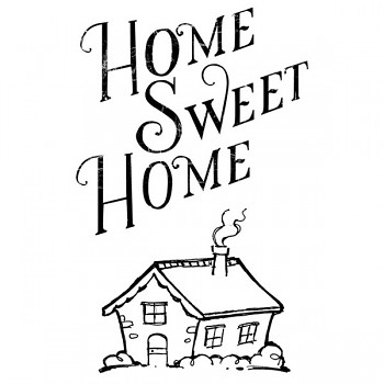 Transparent Stempel 5x7cm / Home Sweet Home