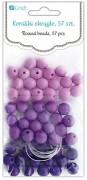 Beads / 8mm / 57pcs / Berry