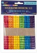 Drevené paličky so zárezmi - 50 ks / farebné