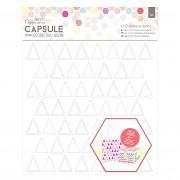 Samolepiaca šablóna / 20x20cm / Triangles - Capsule - Geometric Neon