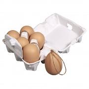 Plastové vajíčka 6x4cm s jutovým špagátom / natural