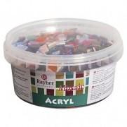 Acryl-Mosaiksteine 1x1cm / Mischung bunt / 300g