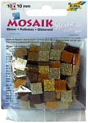 Mosaik 10x10mm / glitter brown