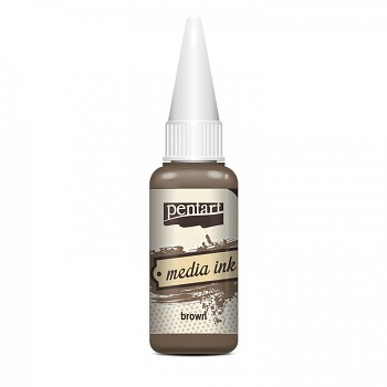 Media Ink / alkoholový atrament 20ml / brown