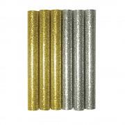 Glitrové lepiace tyčinky 10x1cm / 6ks