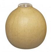 Papier maché váza s hliníkovou vložkou / 10,5 x 10 cm