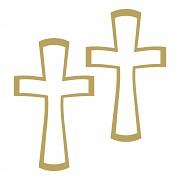 Samolepky / kríž / zlaté