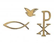Samolepky / kresťanské motívy / zlaté