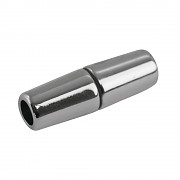 Magnet clasp Olive / 5mm / 28x9mm / silver