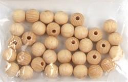 Dřevěné korálky / 15mm / 25 ks