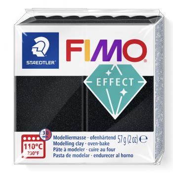 Fimo efekt perleťová čierna (907)