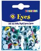 Oči s riasami - farebné / mix veľkostí / 30ks