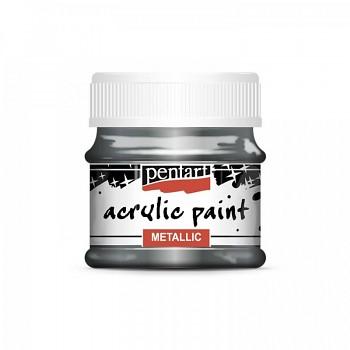 Pentart akrylová farba metalická / strieborná rococo