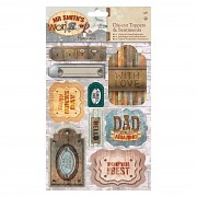 A5 Die-cut Toppers & Sentiments (2pk) - Mr Smith's Workshop