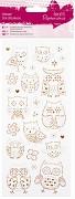 Glitrové samolepky / Owls