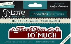 Die'sire Edge'ables / vyrezávacia šablóna / Only Words - Thank You So Much