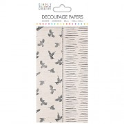 Simply Creative Decoupage Paper / 4ks / Birds