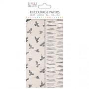 Simply Creative Decoupage Paper / 4pcs / Birds