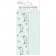 Simply Creative Decoupage Paper / 4ks / Wild Flowers