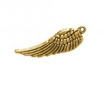 Kovová ozdoba / krídlo / 15mm / 5ks / zlato