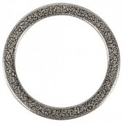 Metal jewellery ring flat, 37mm / silver / 1pc