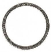 Kovový kroužek plochý / 50mm / stříbro / 1ks