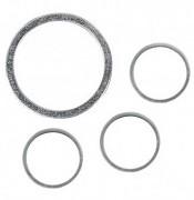 Set metal jewellery ring, flat silver