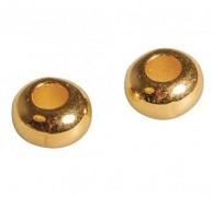 Kovové korálky 6mm / 6ks / zlato
