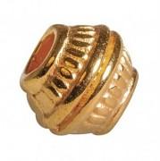 Metal bead, 7mm ø gold / 3pcs
