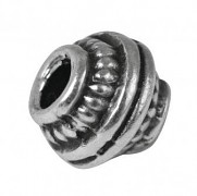 Koraliki metalowe 7mm / 3szt / srebrny