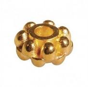 Kovové korálky 7mm / 5ks / zlato