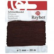 Schmuckkordel / 1mm / 20m / dunkelbraun