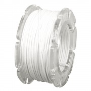 Wax cord with nylon core / ø 0.6mm / spool 10m / white