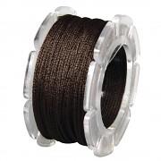 Wax cord with nylon core / ø 0.6mm / spool 10m / mocha