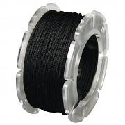 Wax cord with nylon core / ø 0.6mm / spool 10m / black