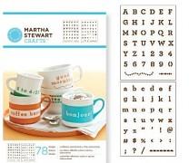 Martha Stewart / samolepiace šablóny / typewriter
