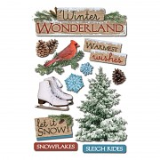Sticker - 3D / Winter Wonderland