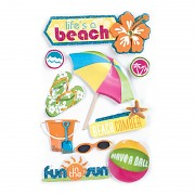 3D samolepky / Lifes A Beach